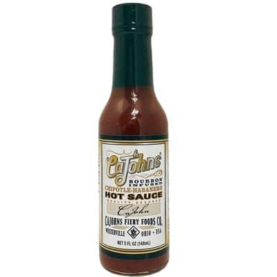 CaJohns Bourbon Infused Chipotle Habanero Hot Sauce
