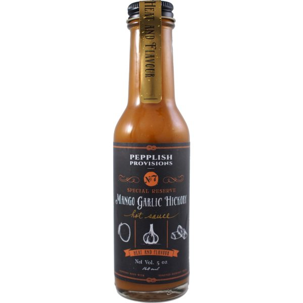 Pepplish Provisions Mango Garlic Hickory Hot Sauce