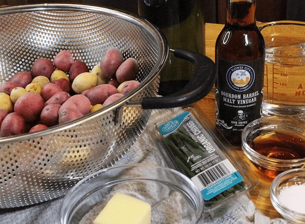 malt vinegar recipes - smashed potatoes