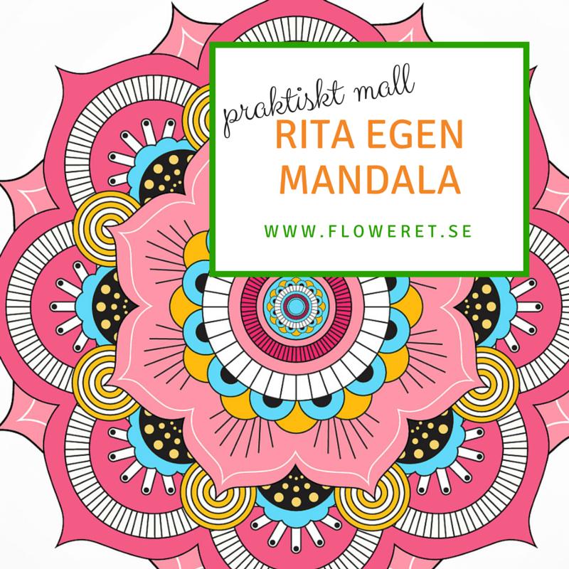 Rita en mandala - mall till dig att skriva ut