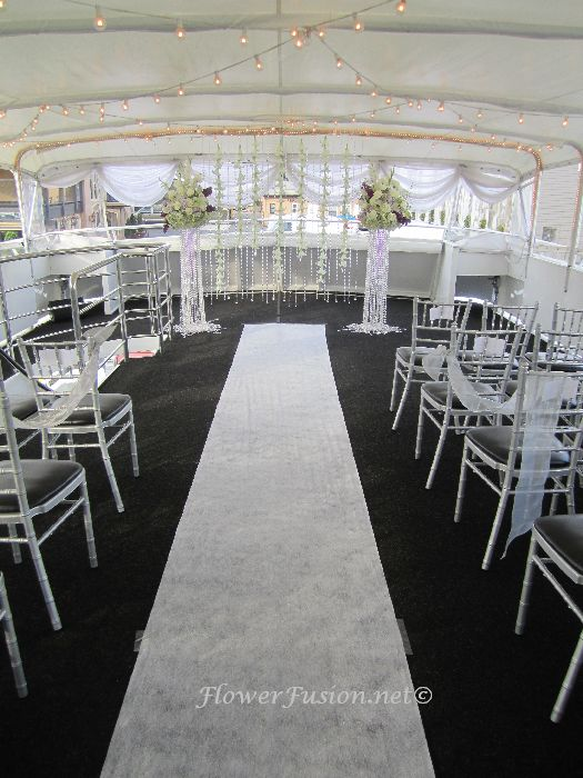 Icon Yacht Wedding Newport Harbor FlowerFusion