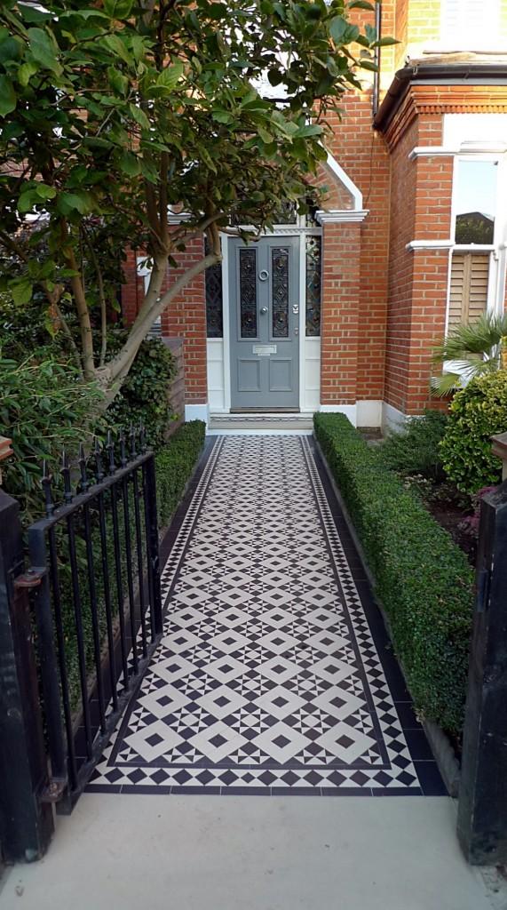 Battersea Victorian Mosaic Tile Path London Garden Design