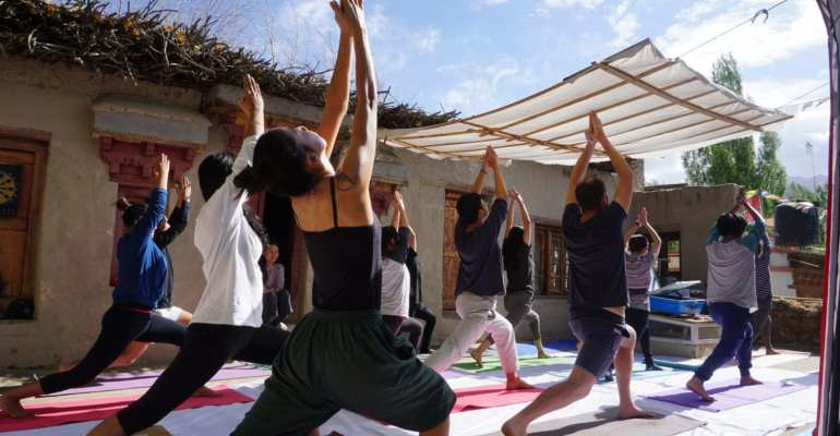 Yoga at Raku House