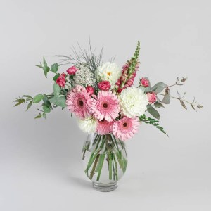 Stunning bouquet with pink gerberas by Flowerist