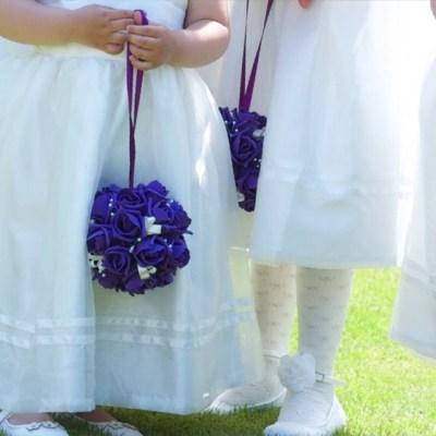 Bridesmaids arrangements by flowerjoy