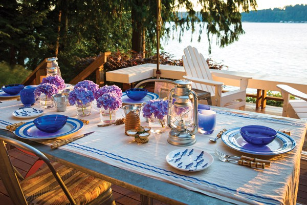 Ted Kennedy Watson table setting