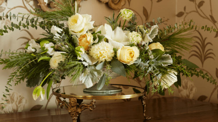 christmas party flowers