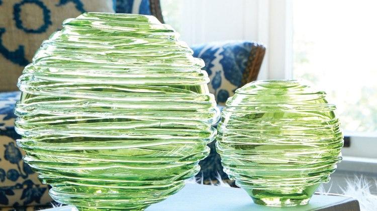 spring greens vases