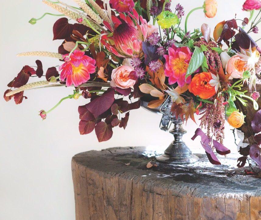 Fall Out: A Bold Autumn Arrangement - Flower Magazine