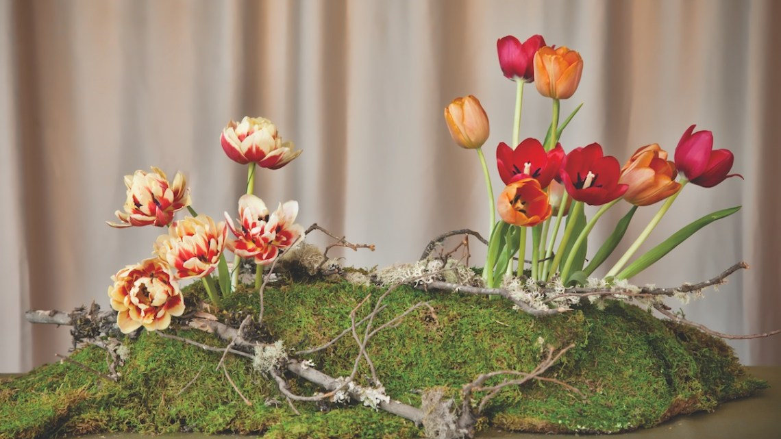 tulip centerpiece how to