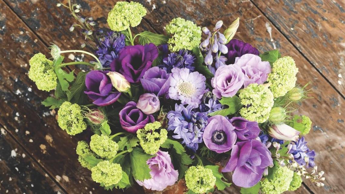 Heather Barrie's Spring Palette arrangements