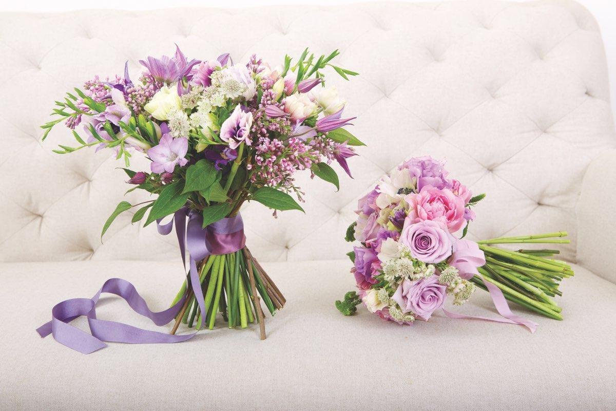 Bridal party bouquets flower magazine bridal bouquets bridesmaid bouquets how to make izmirmasajfo