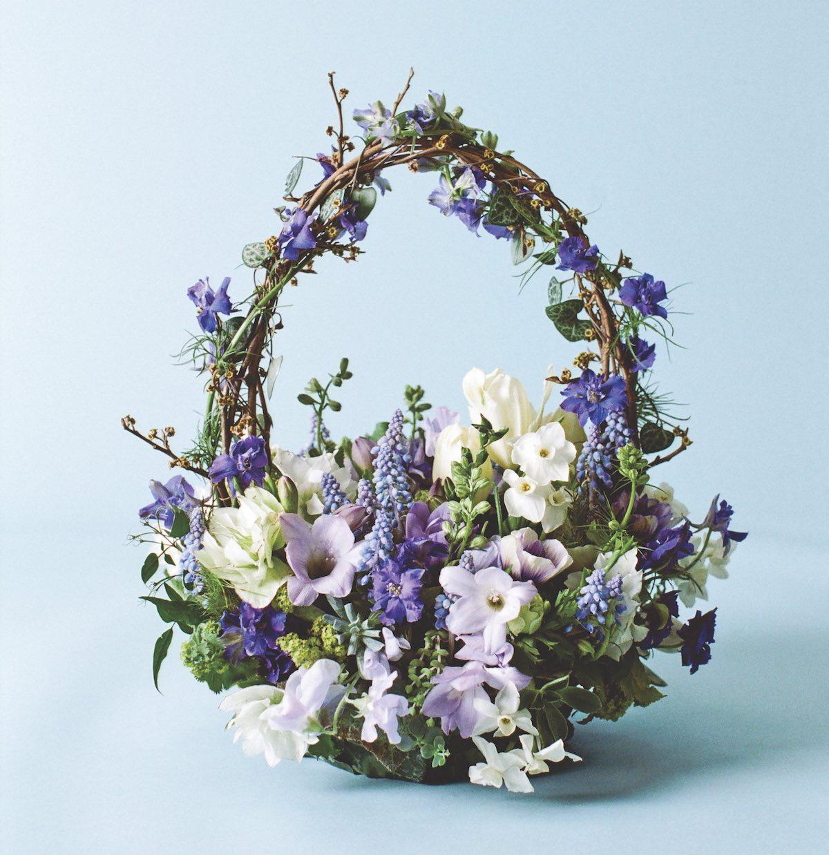 A tisket a tasket flowers in a basket flower magazine basket arrangements basket flower arrangements izmirmasajfo