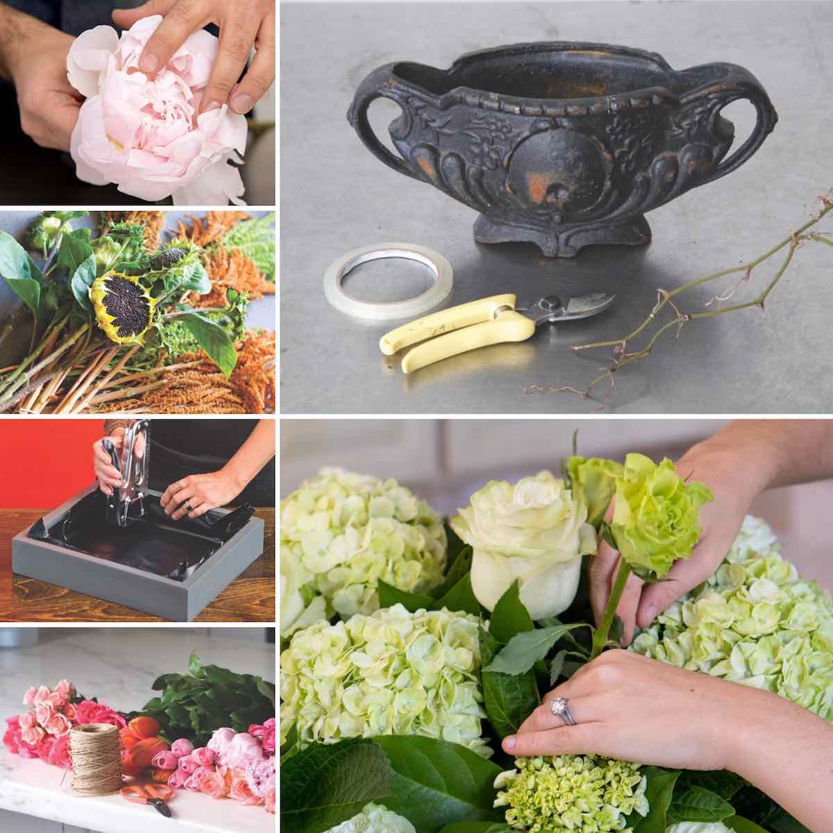 How To Make Floral Arrangements 10 step-by-step arrangements we love - flower magazine