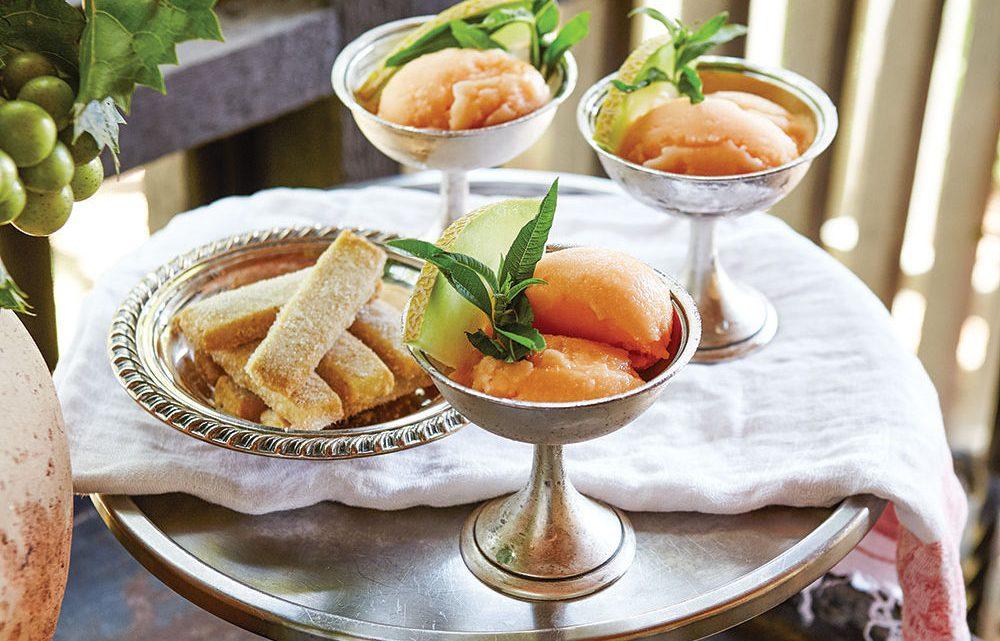 Cantaloupe Sorbet, frank stitt