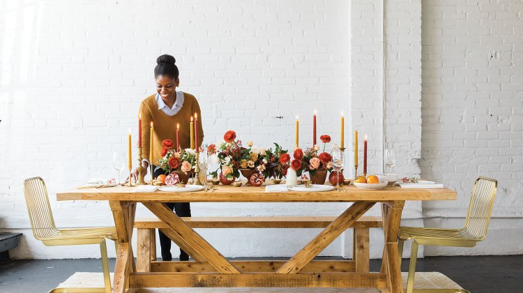 floral designer Kaylyn Hewitt's fall table