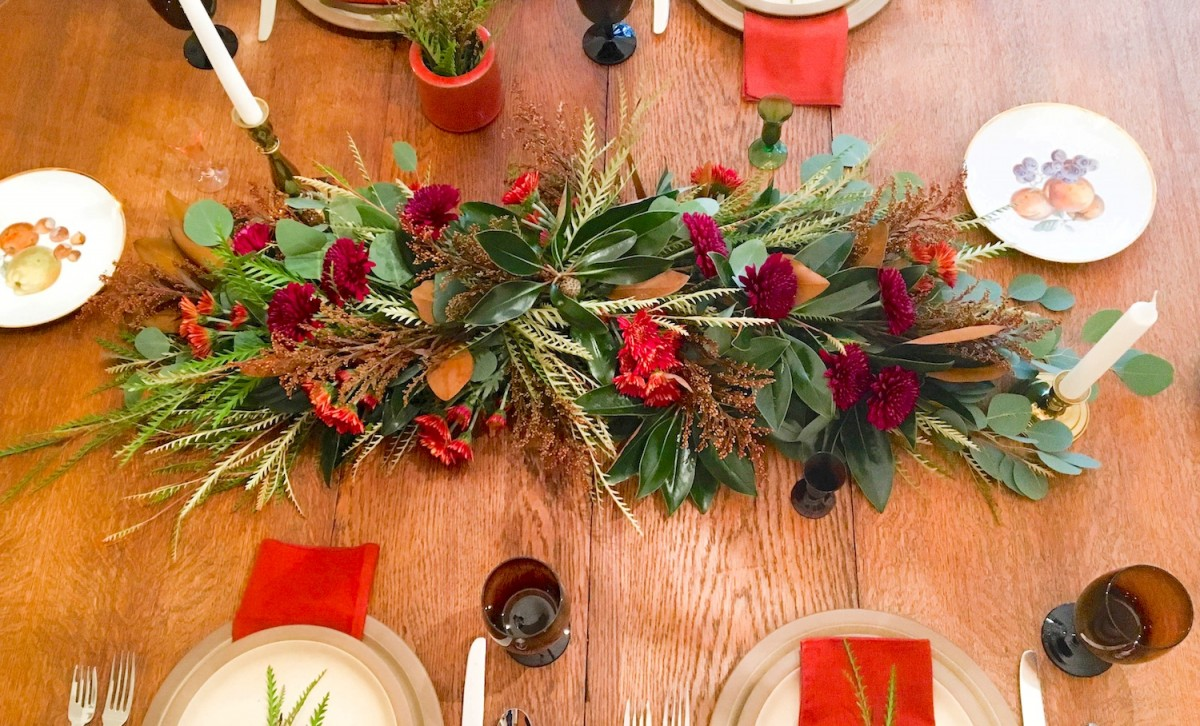 holiday table garland