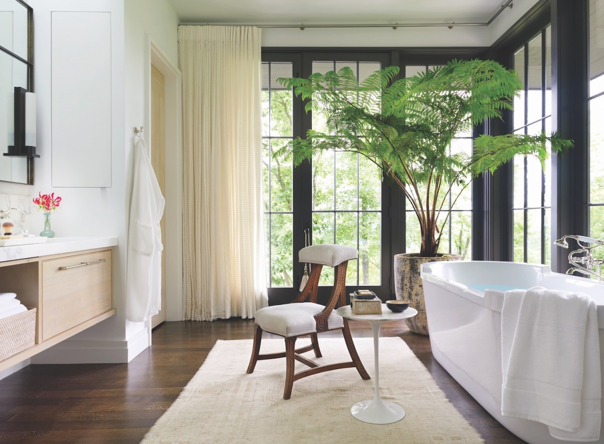 In Boothu0027s Nashville Home, The Doors Of The Master Bath Open To A Terrace  With A Glass Railing. U201cTo Bring In As Much Natural Light As We Could And  From As ...
