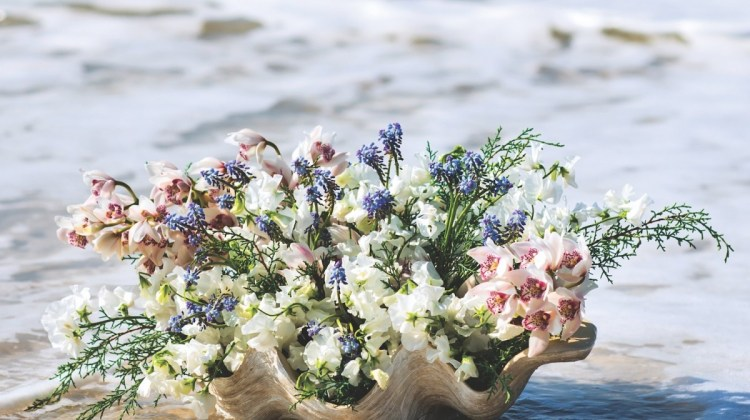 Christina Springfield, beach inspired flower arrangements