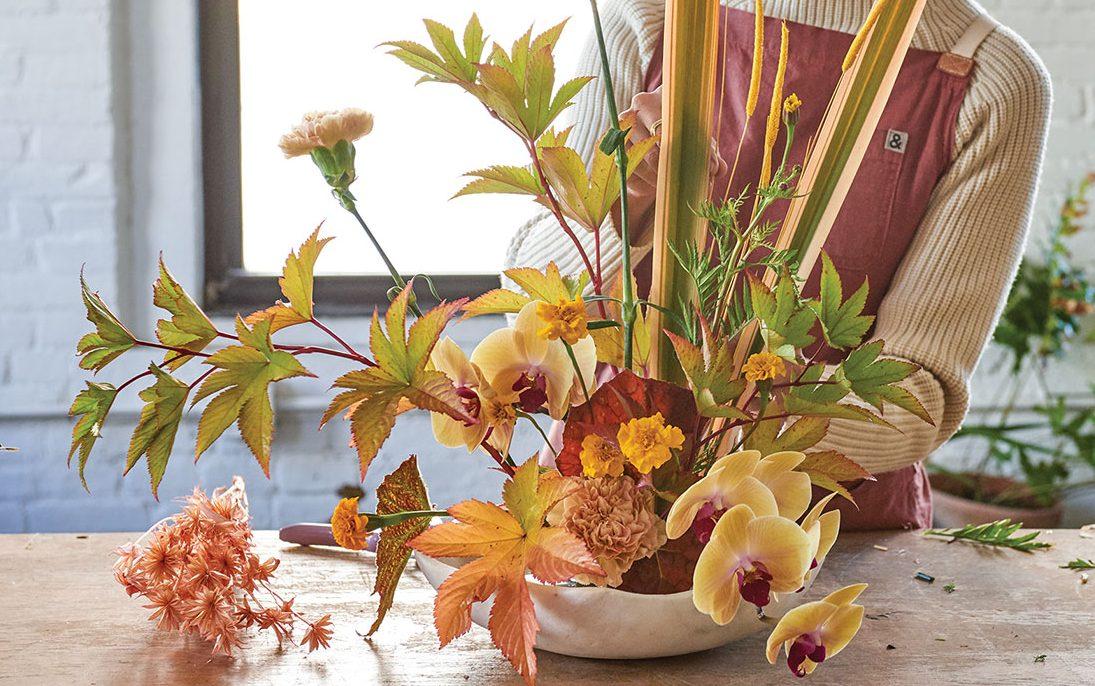 Taylor Patterson S Autumn Ikebana Style Arrangement Flower Magazine