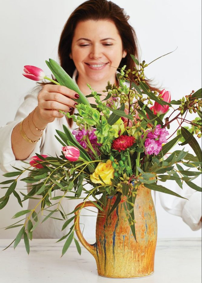 Arranging grocery store flowers, supermarket flower arrangements