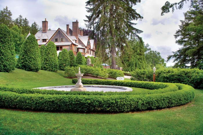 Naumkeag estate built in the 1880s by Joseph Choate, featuring grounds designed by Fletcher Steele