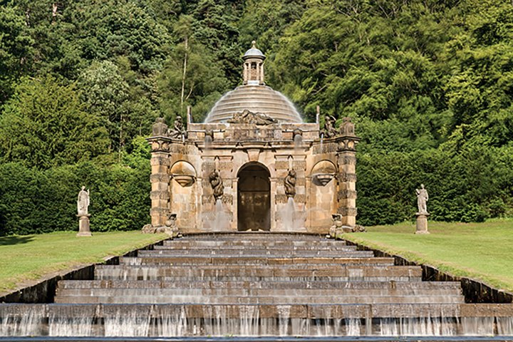 The Cascade House at Chatsworth in Derbyshire, United Kingdom