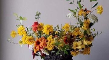 Crescent Floral Design by TJ of Blue Jasmine