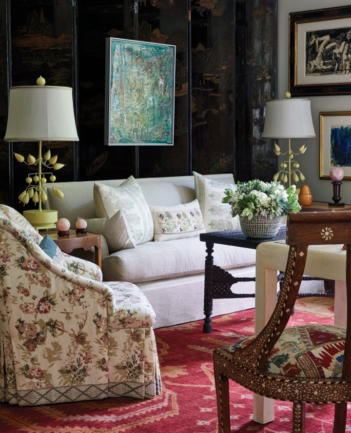 Sitting room designed by Cathy Kincaid