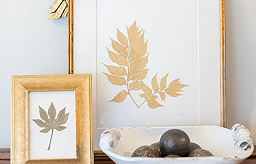 Ryan Miller's gold-toned pressed botanicals