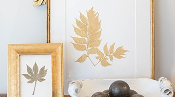 Ryan Miller's gold-toned pressed botanicals