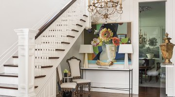 decorating idea space under stairs