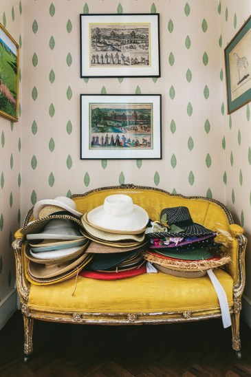 settee, hat collection