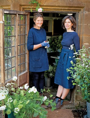 Bridget Elworthy and Henrietta Courtauld, founders of The Land Gardeners