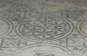 Mosaic floor in Pompeii