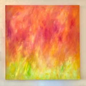 """Tulip Fire Painting, 36x36"""", front view"""