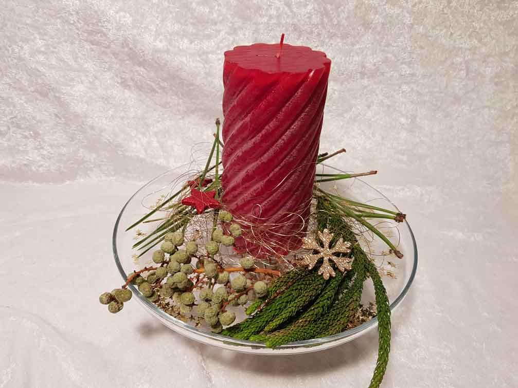 Kerzenschale Glas