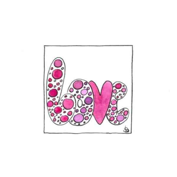 Karte Herzenskunst Love