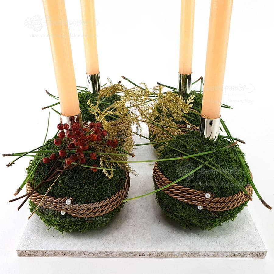 Mooskugeln Advent 4