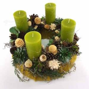 Adventkasten Grün Filz 2