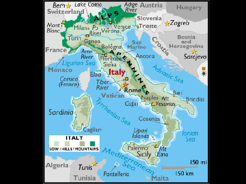 Alps Mountains Map Of Rome