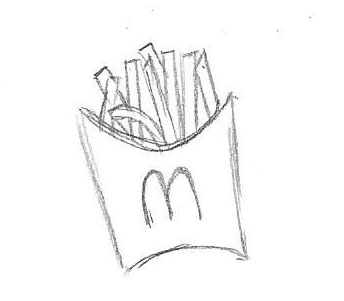 mcdonalds french fries coloring pages drawing sketch french