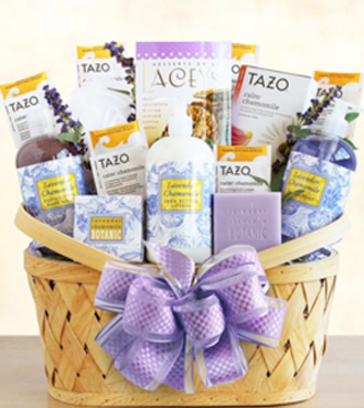 Luxurious Lavender Retreat Spa Basket - WebGift