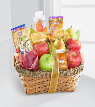 Warmhearted Wishes Fruit and Gourmet Kosher Gift Basket - WebGift