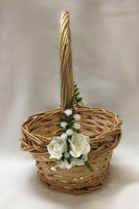 Natural cane basket for flowergirl.