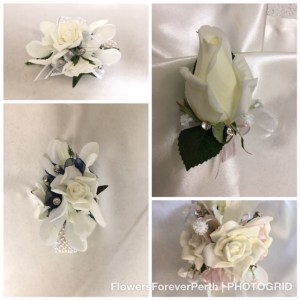 School Ball wrist corsages and button holes.
