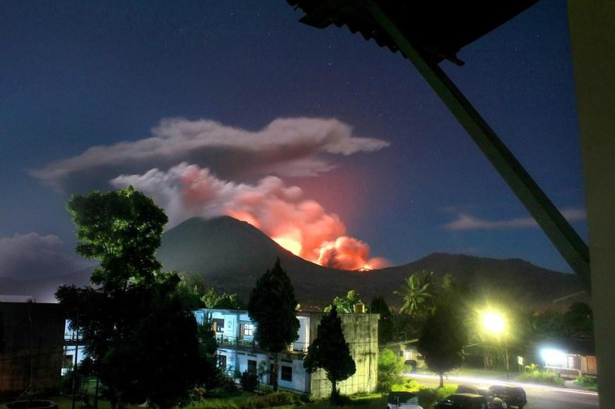 Lokon Volcano Erupts