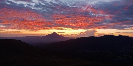 Sun rise from Mount Lokon