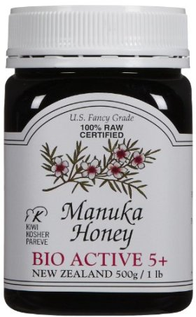Manuka Honey Bio Active 5+, 500g, 16 Ounce Jar