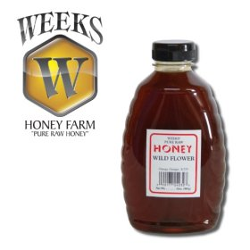 16oz (1lb) – Wildflower Honey – Pure, Raw, Unfiltered, Unheated